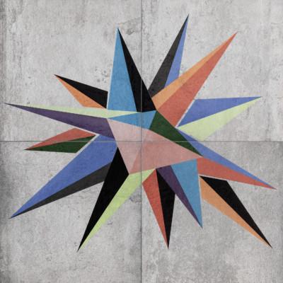 Tempelhof Stern (Панно произведено на 4 разных плитках  - возможно отличие плитки по оттенку в пределах одного панно)