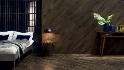Оригинальное декорирование стен керамической плиткой.